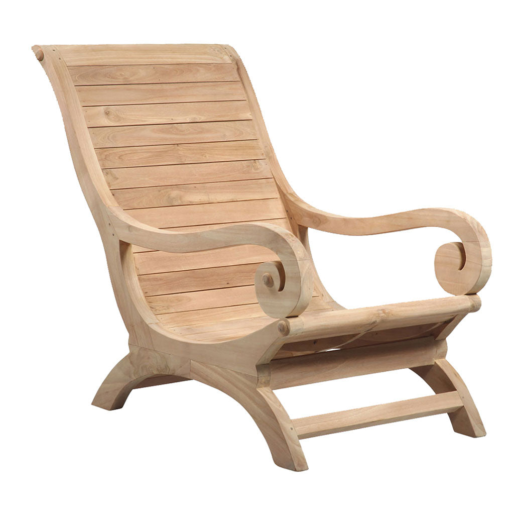 Todd Outdoor Teak Lounge Chair