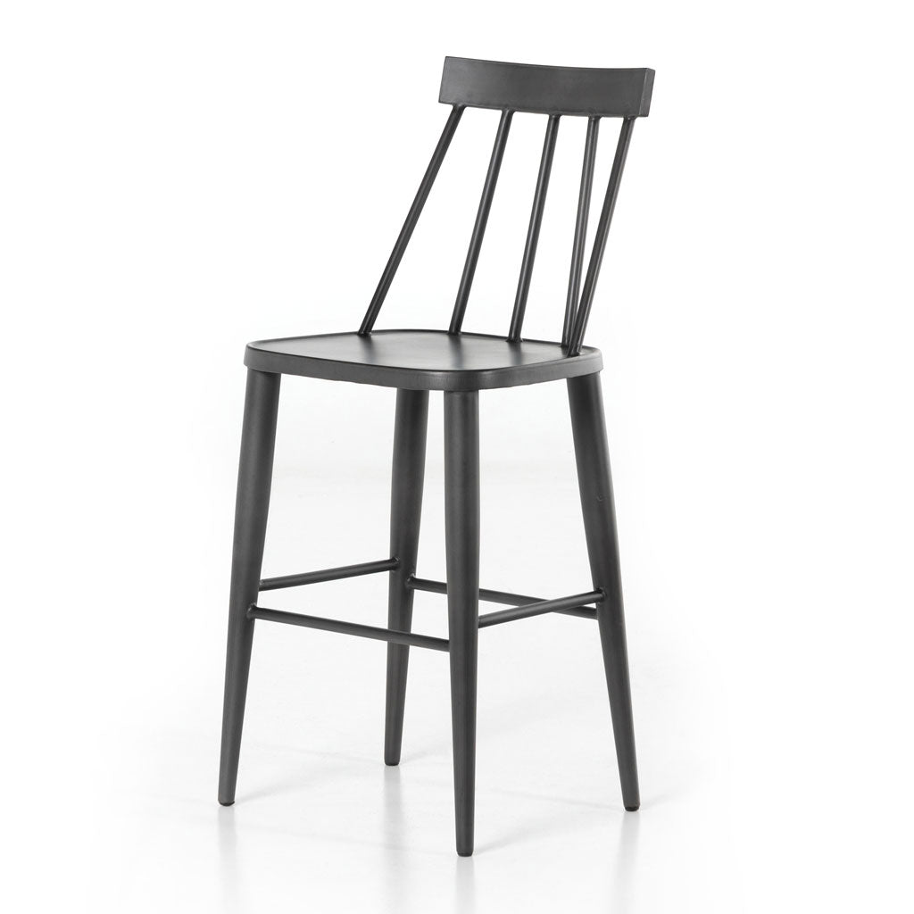 Travis Counter Stool in Natural Black