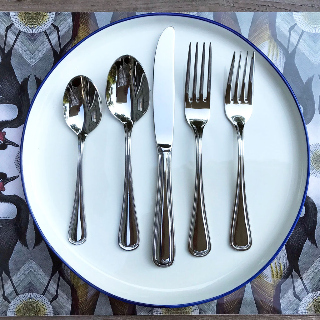 Ultra Stainless Steel Flatware, Service for 8