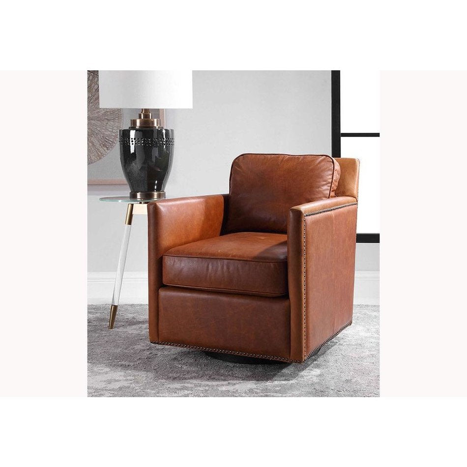 Urban Leather Swivel Chair