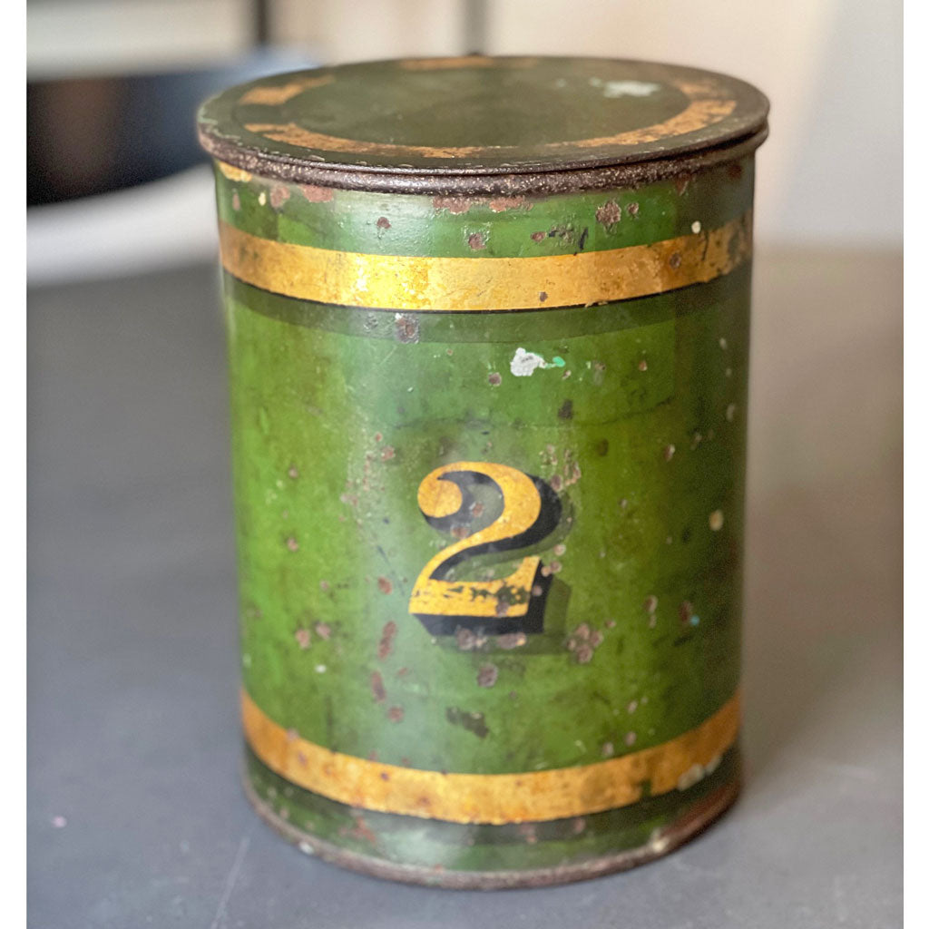Vintage Firehouse Green #2 Tin