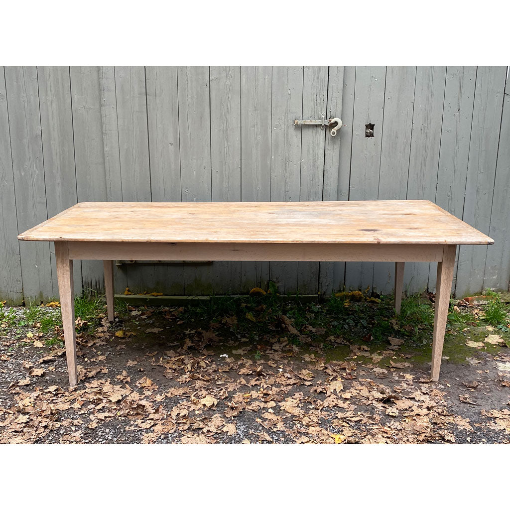 Vintage Farmhouse Table w/ old American Scrubbed Wood Top w/ Replacement Legs