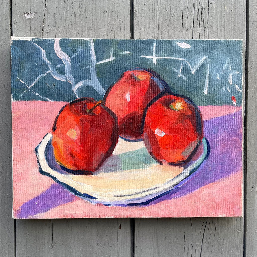 "New England ""Apple"" Still Life, c. 1986; Signed on Back"