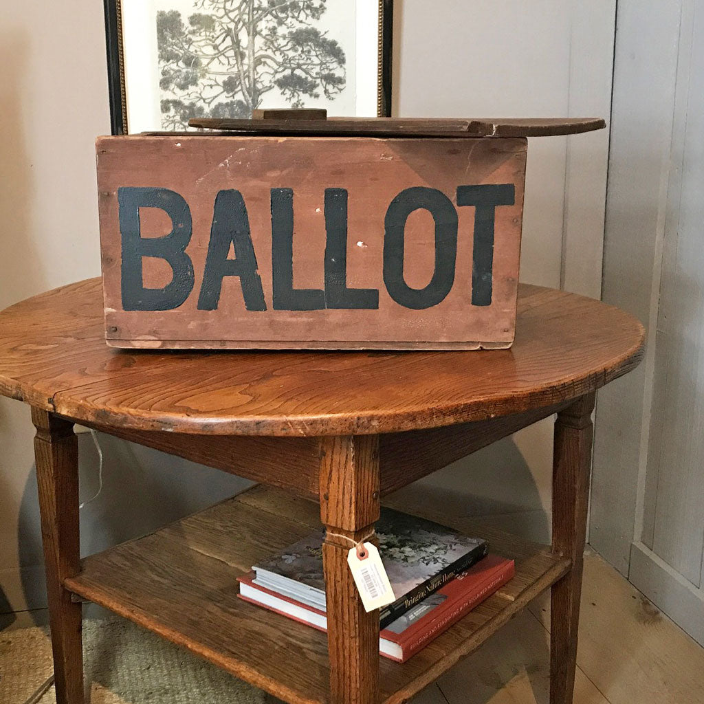 Vintage 19th Century Ballot Box