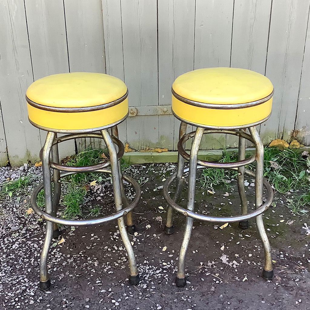 Pair of Vintage Mid Century Bar Stools