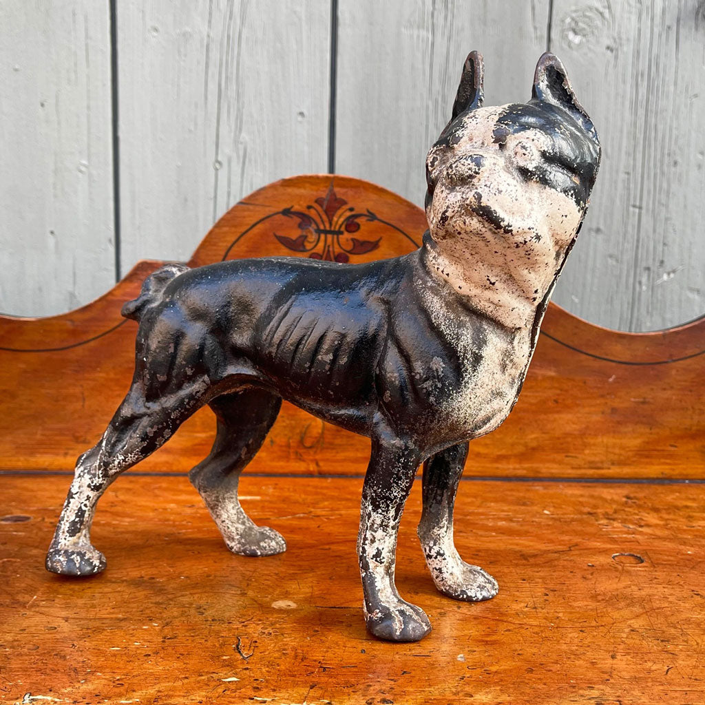 Vintage 19th Century Cast Iron Boston Terrier
