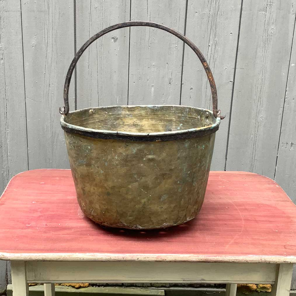 Vintage Brass Bucket