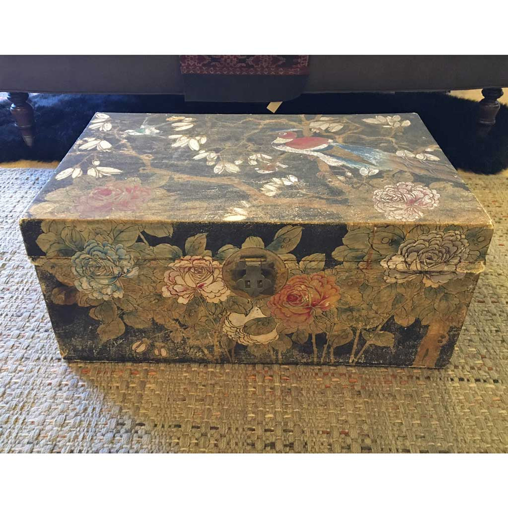 Vintage Chinese Export Goat Hide Box; Early 20th Cent
