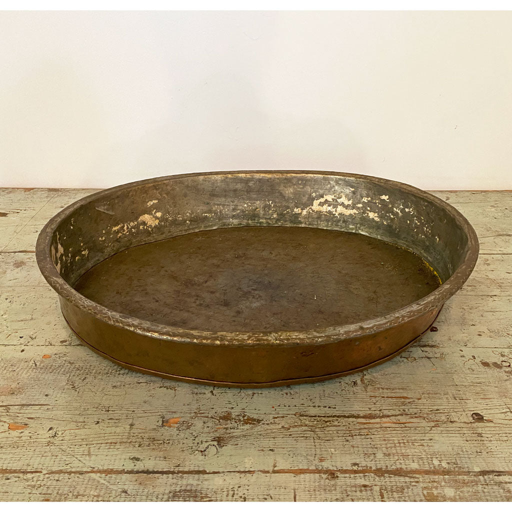 Vintage Copper NY State Oval Tray