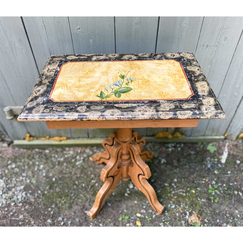 Vintage Cottage Painted Side Table circa 1880