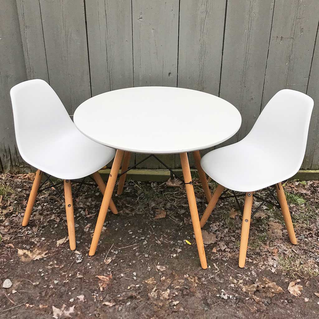 Vintage Eames Style Children's Retro Table and Two Chairs