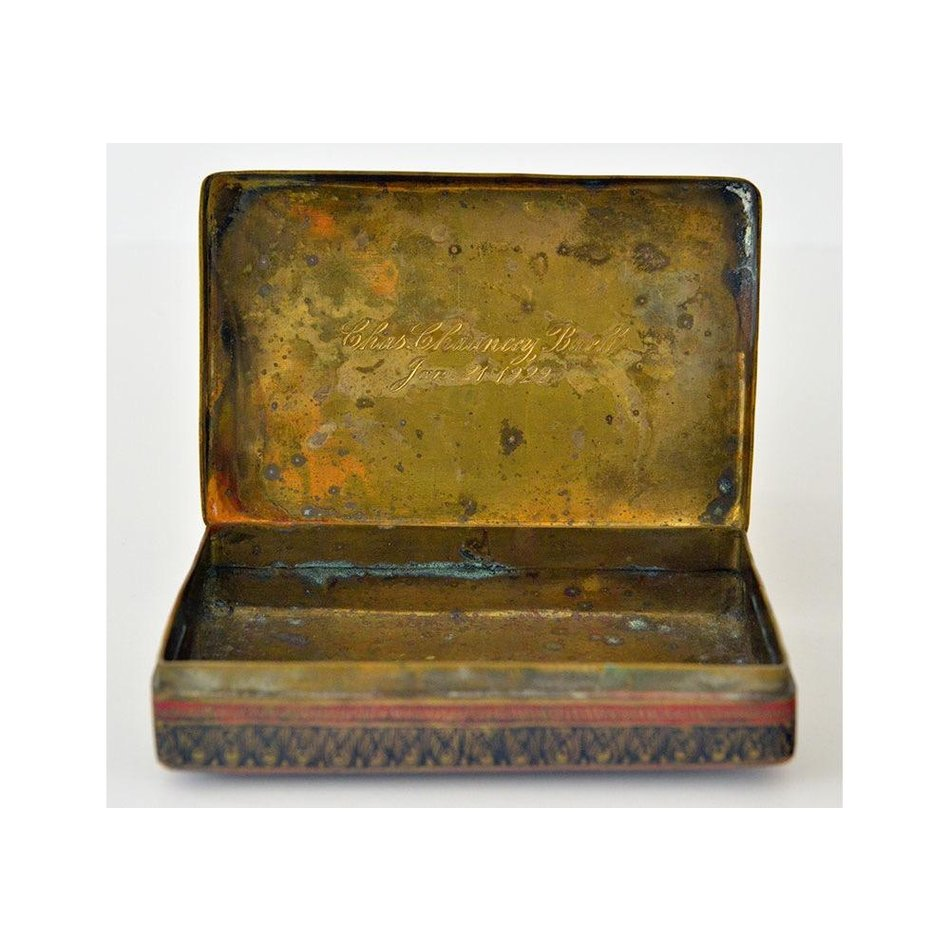 Vintage Engraved Brass Box