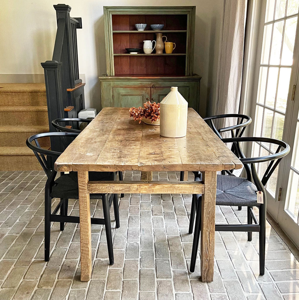 Reclaimed Wood Fruitwood Dining Table