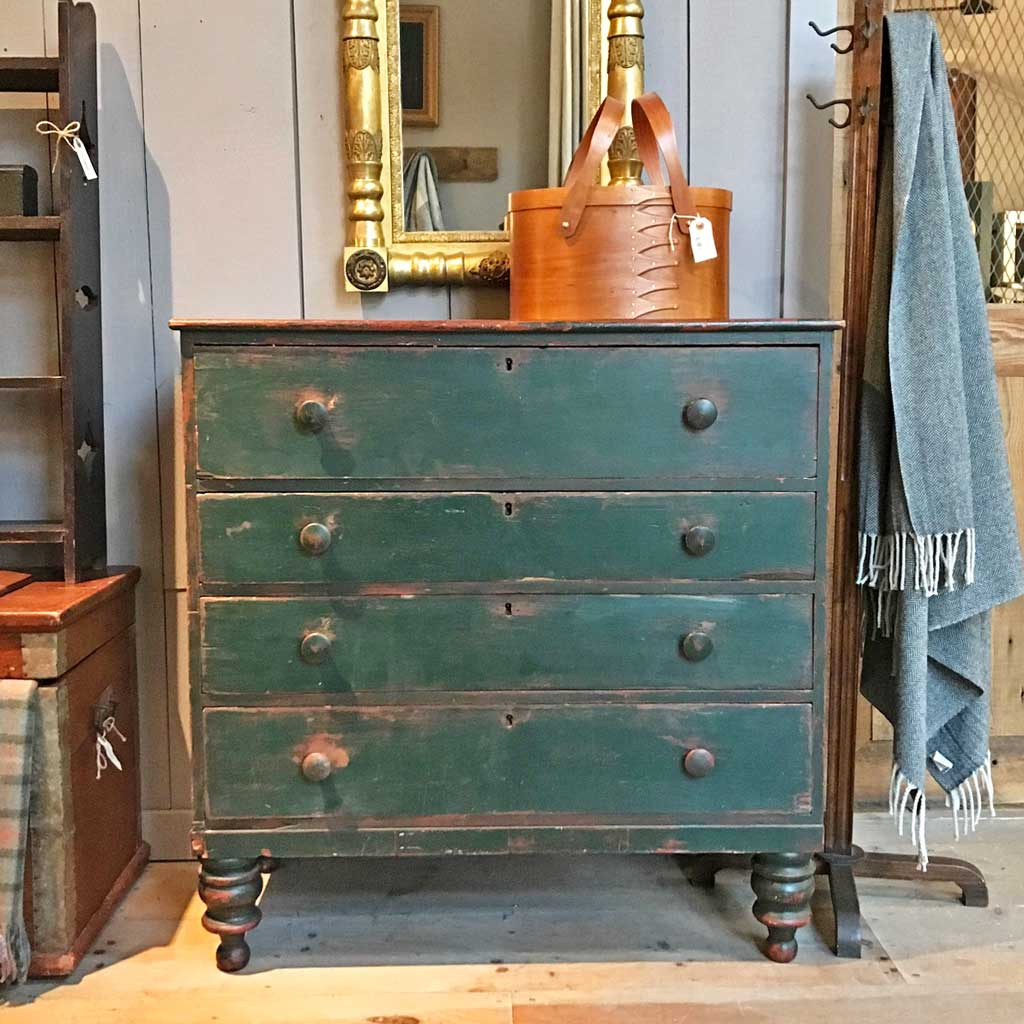 Vintage Green Painted Chest