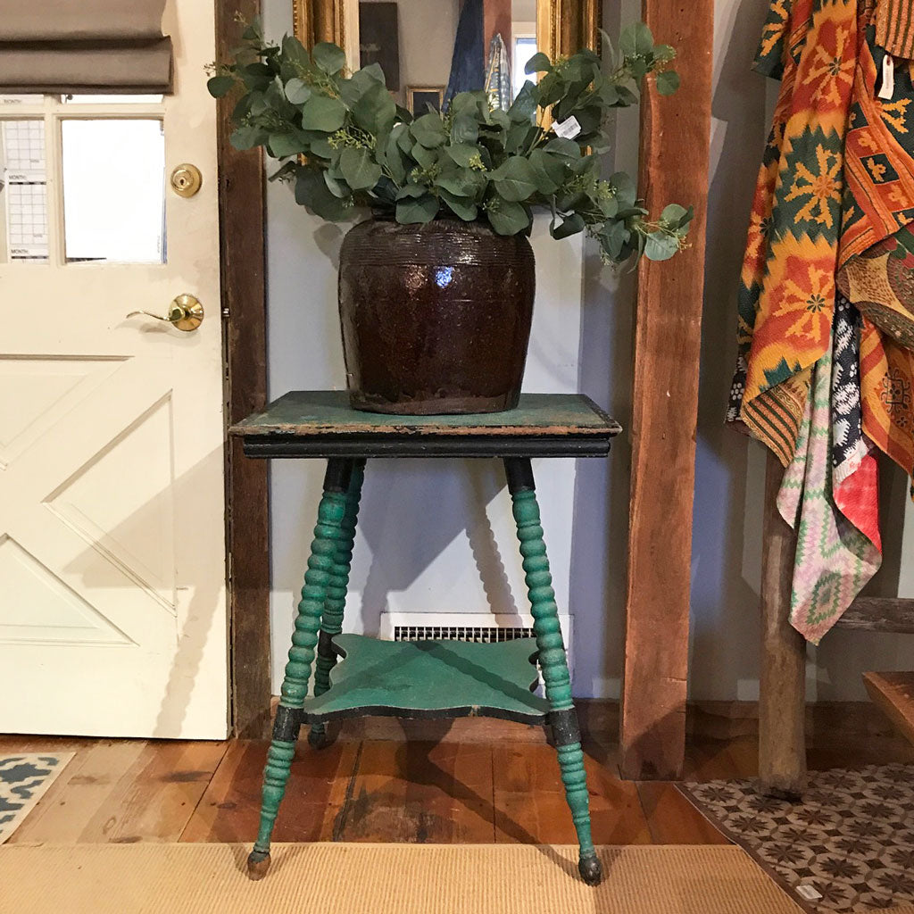 Vintage New England Green Cottage Table