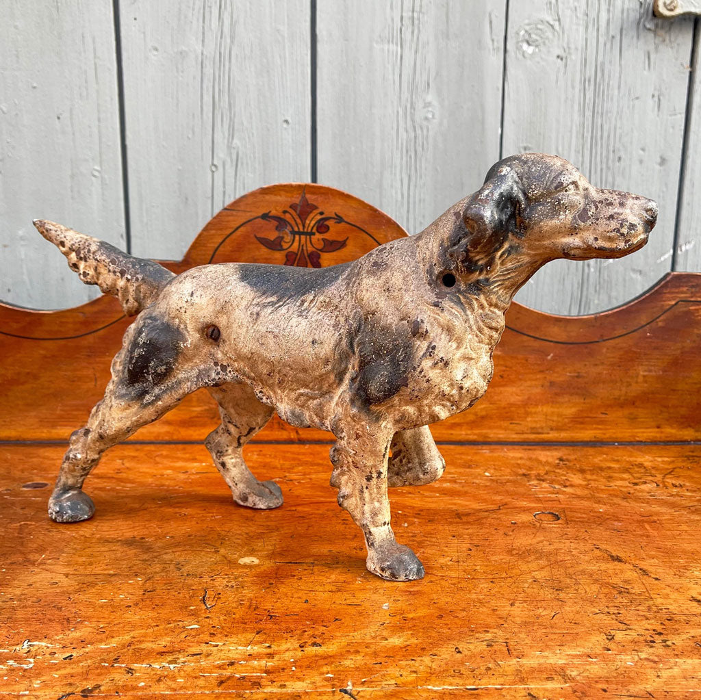Vintage 19th Century Cast Iron Hunting Dog
