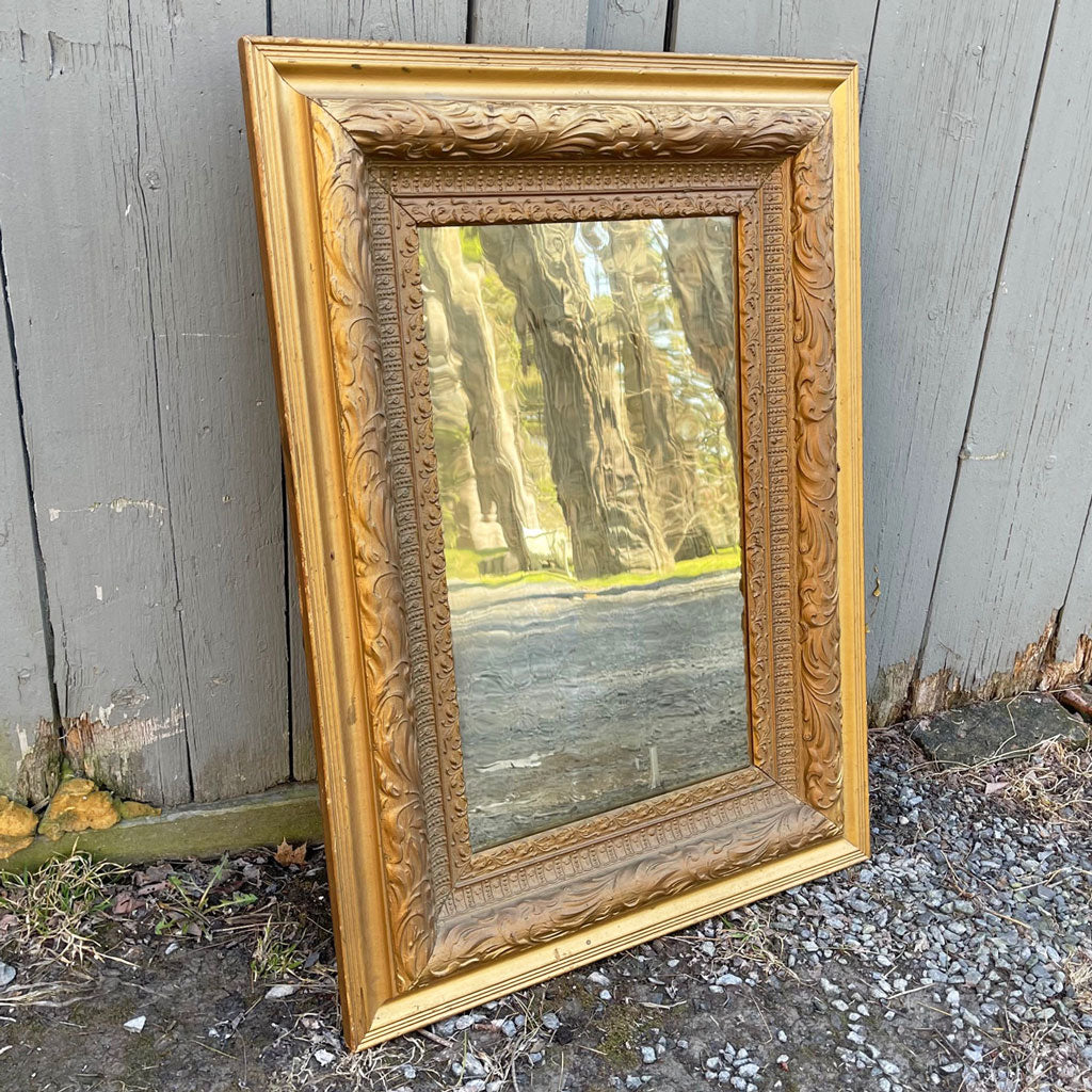 Antique Mirror With Great Original Glass