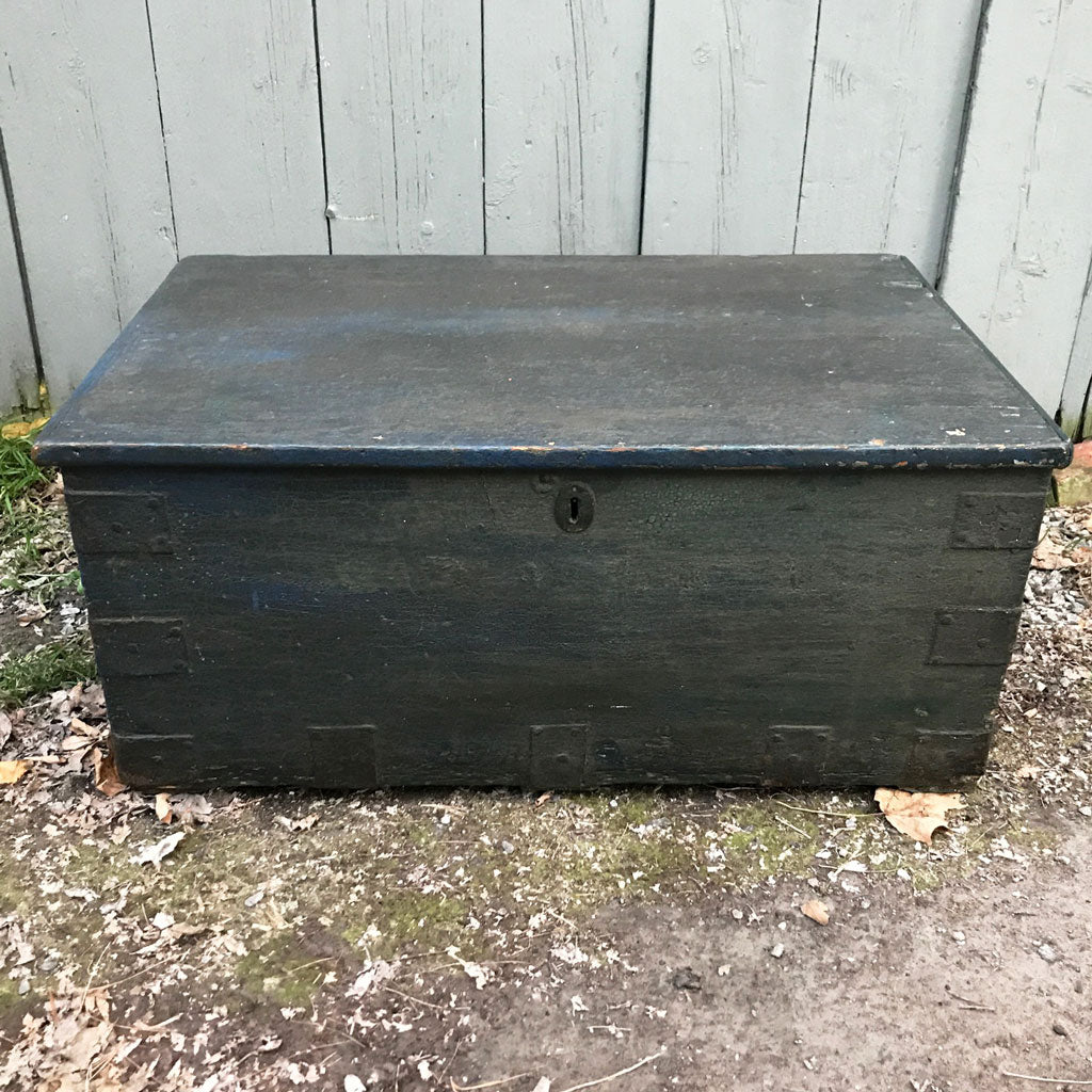 Vintage New England Painted Chest circa 1840