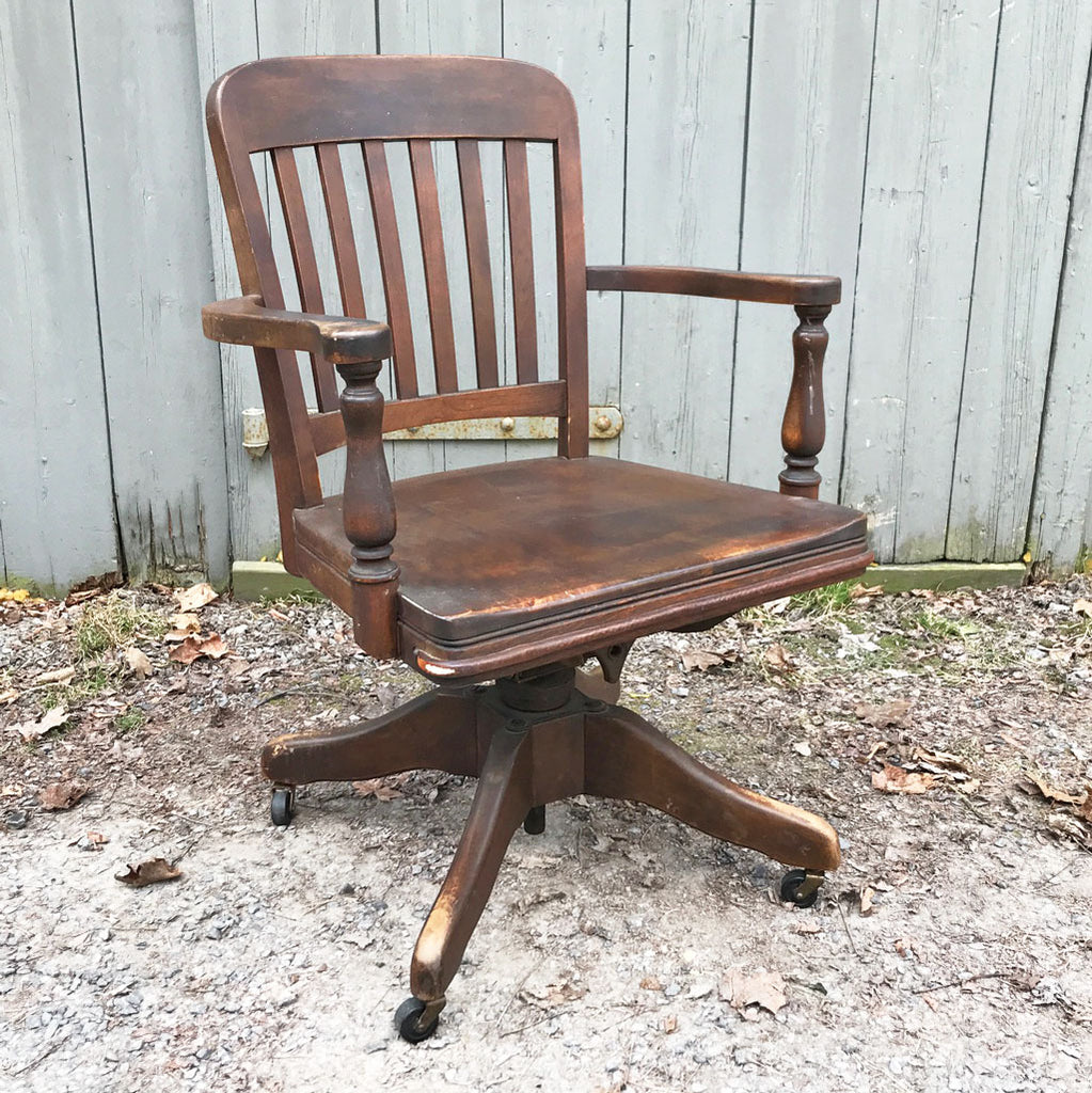 Vintage New England Swivel Desk Chair