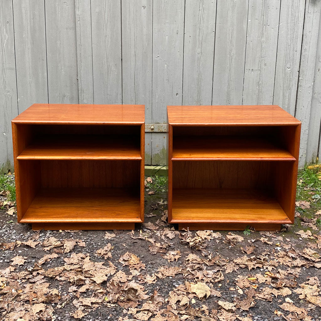 Vintage Pair Mid Century Danish End Tables