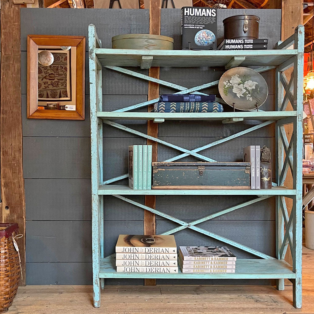Vintage Blue Pantry Rack