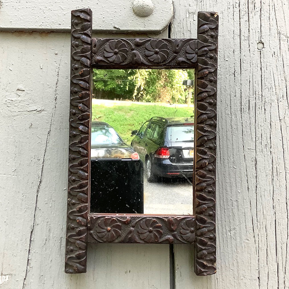 Vintage Small Carved Mirror