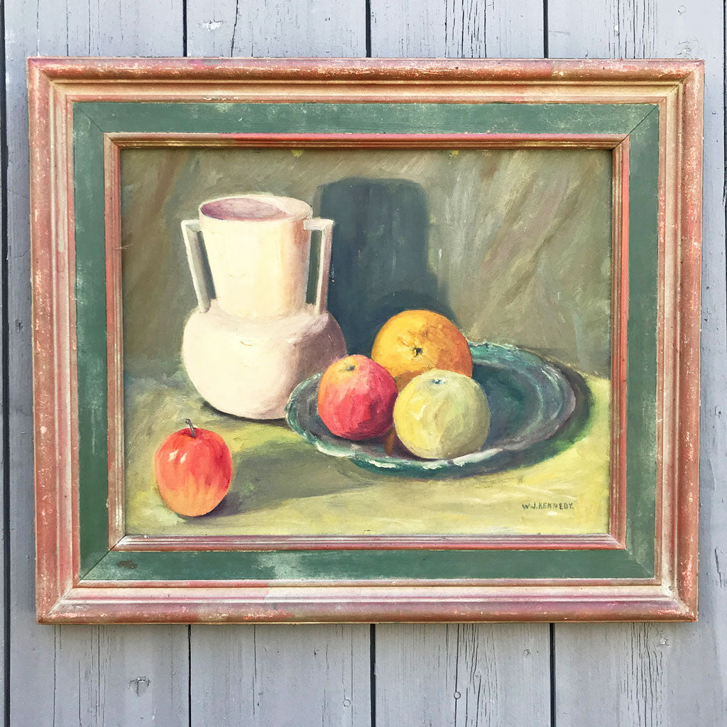 Vintage ca 1950 Still Life in Fabulous Frame, A