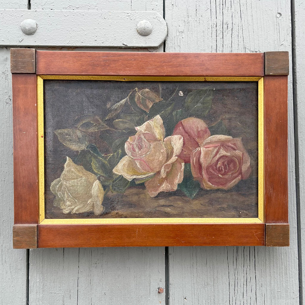 19th Century Rose Painting