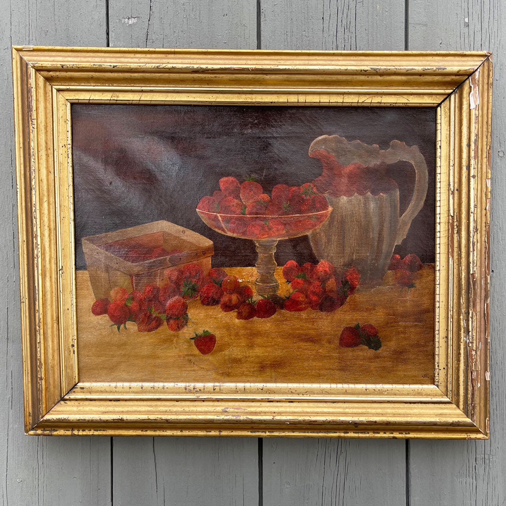 Vintage Still Life With Strawberries