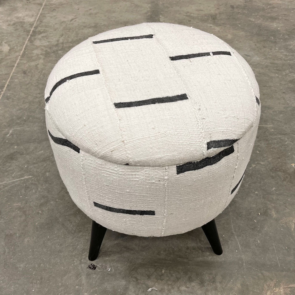 Vintage Mud Cloth Stool Ottoman 0321-A
