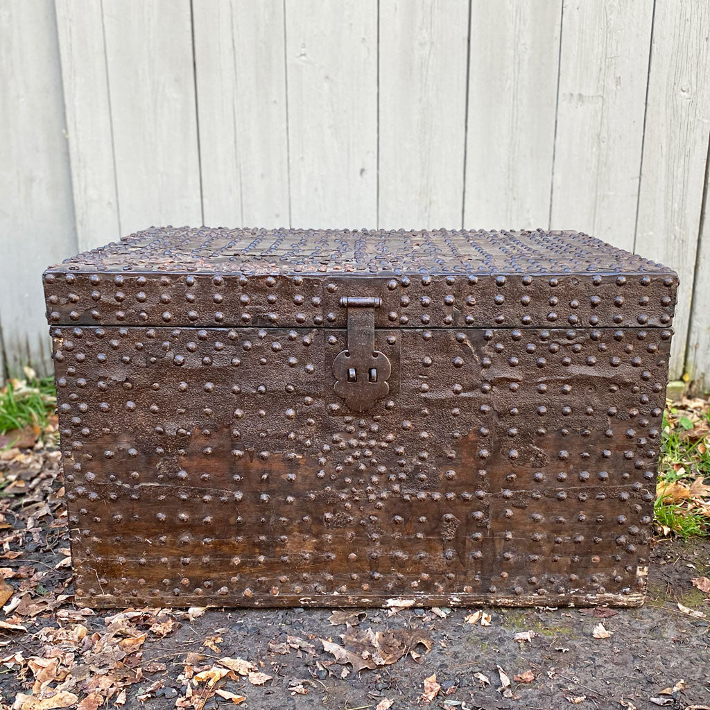 19th Century European Studded Chest