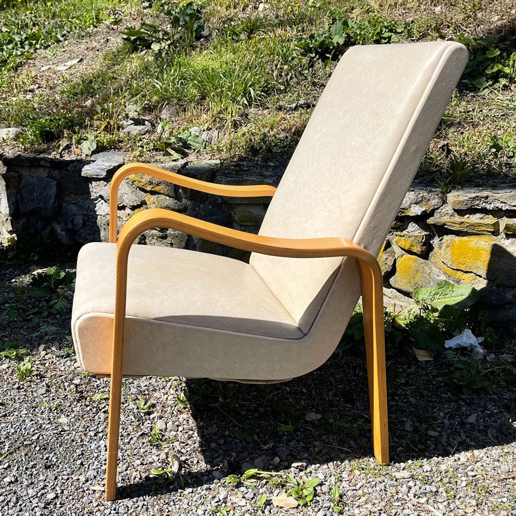 Pair of Mid Century Thonet Bentwood Tall Armchairs