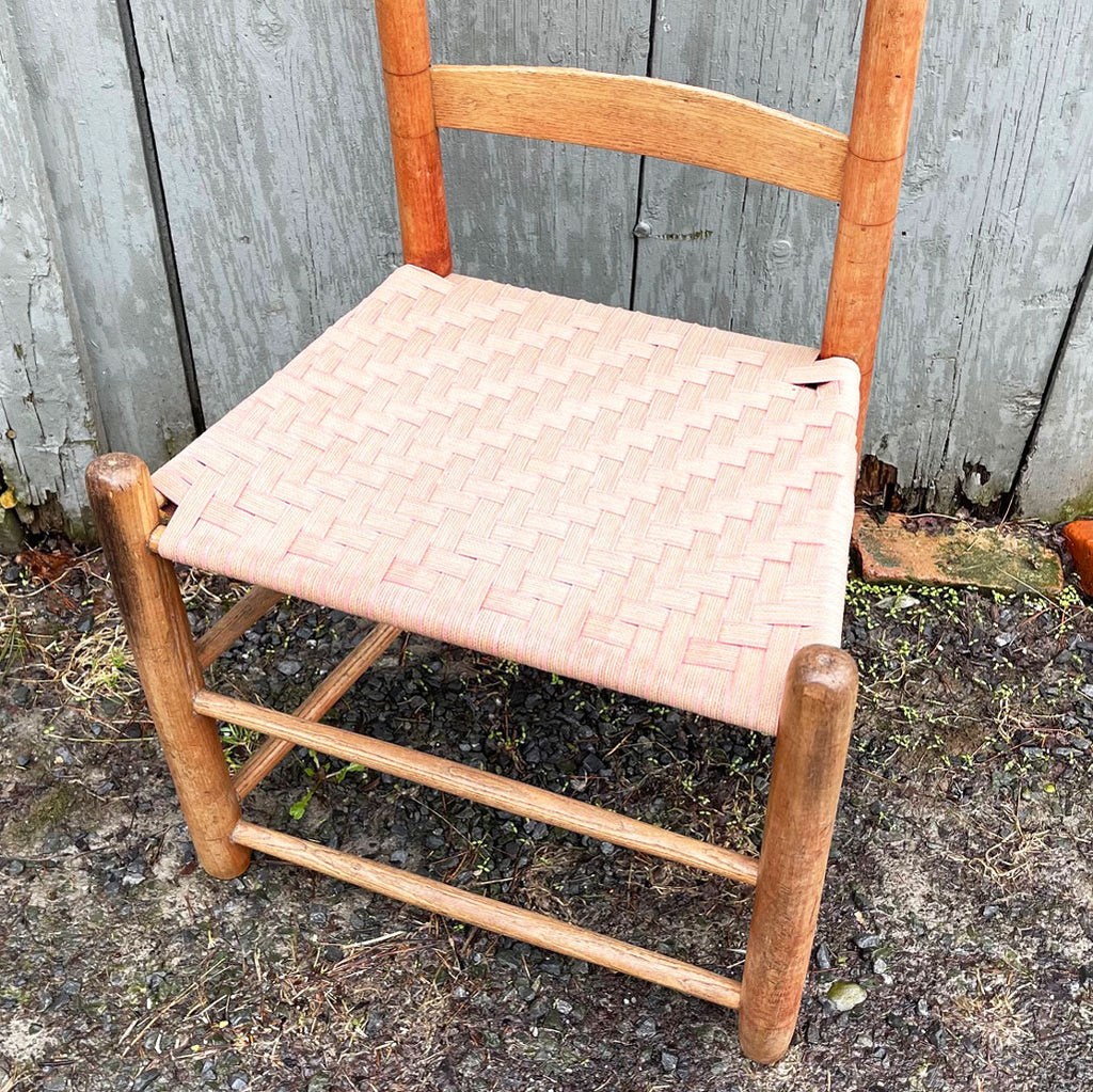 Vintage 3-Slat Back Shaker Style Side Chair w/ Taped Seat; circa late 1800's