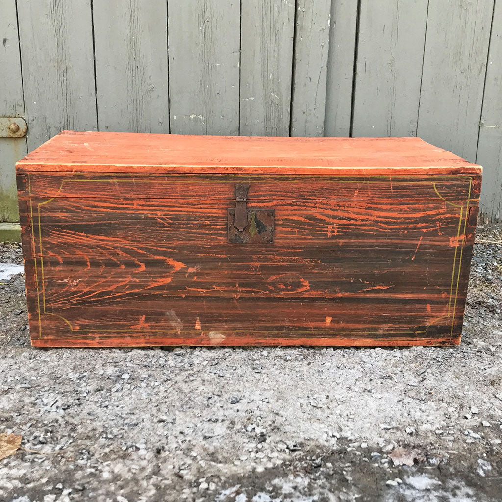 Vintage New England Small Trunk, B