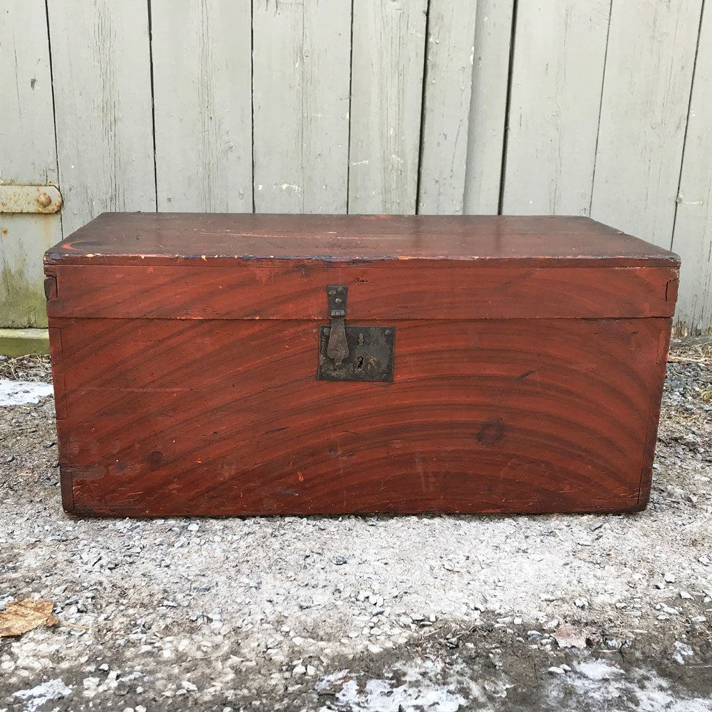 Vintage New England Small Trunk, A