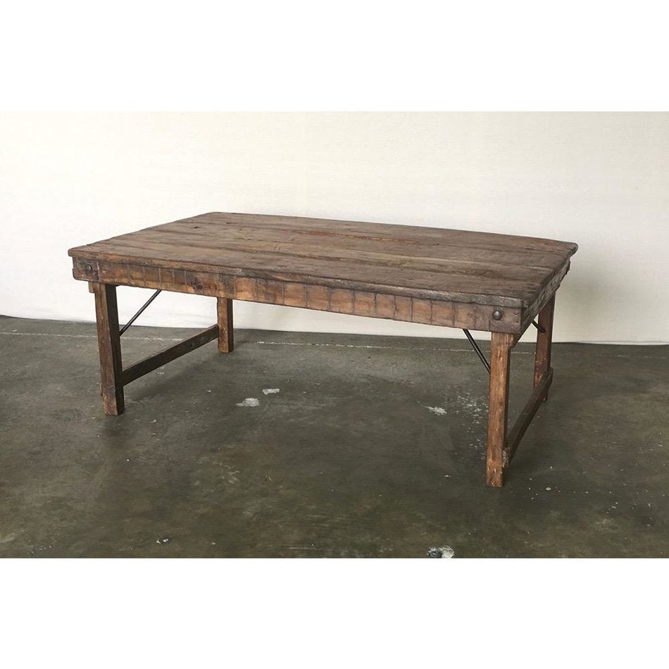 Vintage Wood Wedding Coffee Table