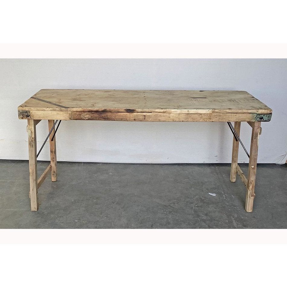 Vintage Wood Wedding Table in Bleached Wood, Large