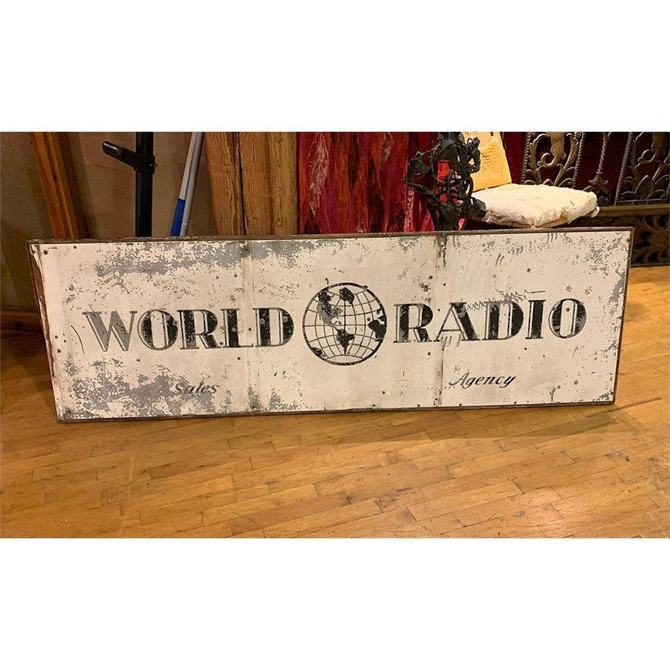 Vintage World Radio Sign
