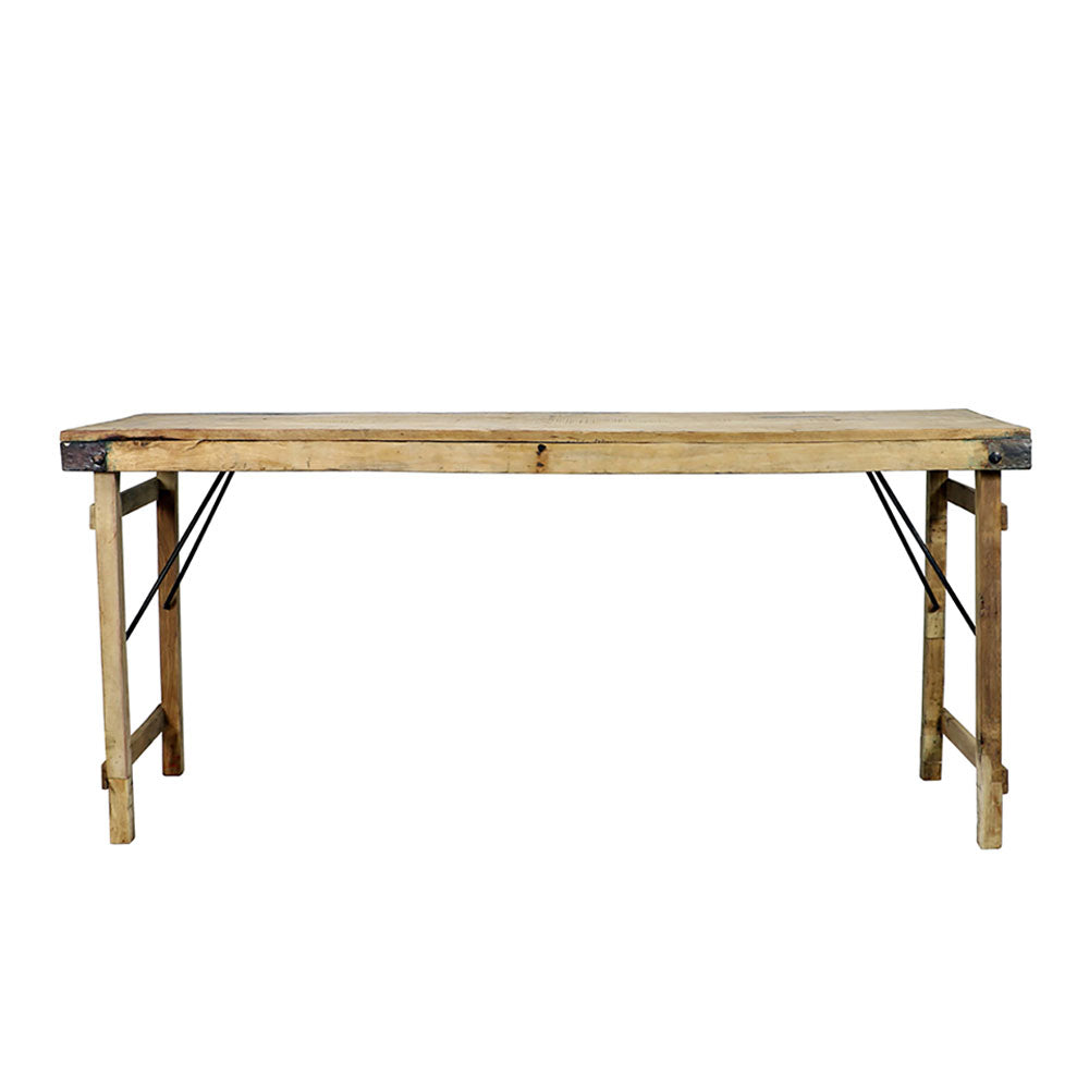 Vintage Bleached Wood Wedding Table, XL