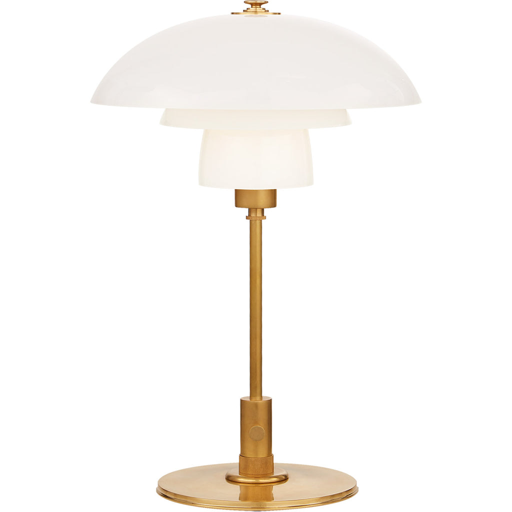 Whitman Desk Lamp in Antique Brass