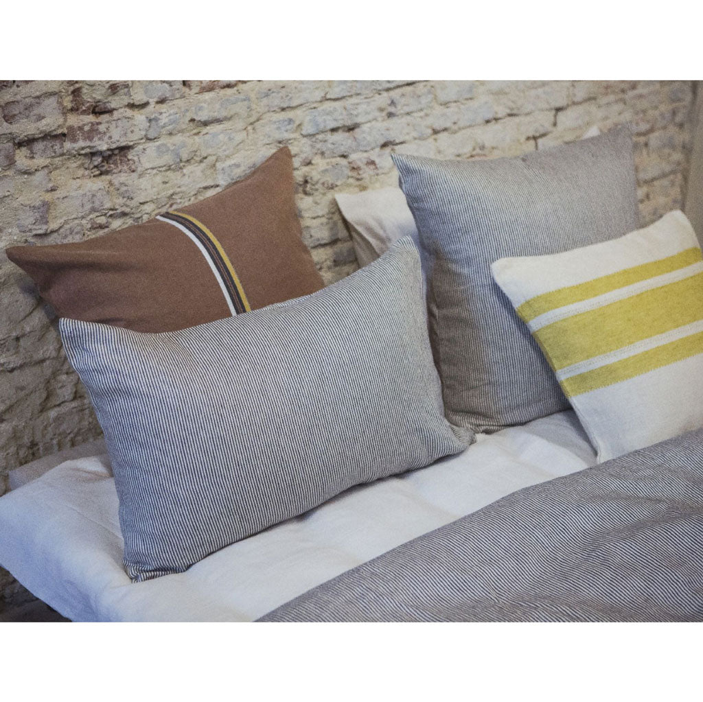 The Workshop Stripe Linen Pillow Sham by Libeco