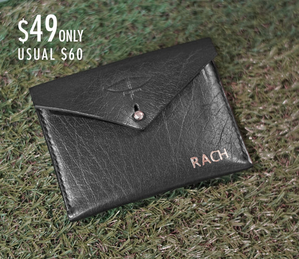 The Sleek Black Card Holder