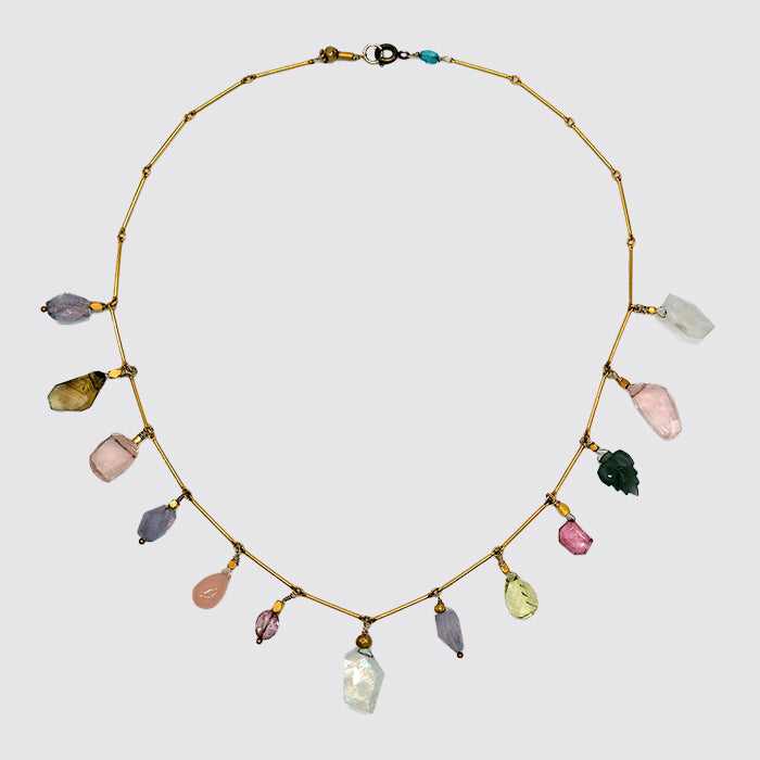 One-of-a-kind Multi Stone Necklace