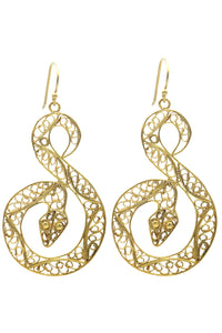 Filigree Snake Earrings