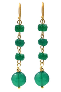 Green Onyx Drop Earrings