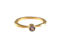 Gold Amethyst Single Stone Ring