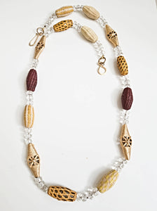 Crystal African Bead Necklace
