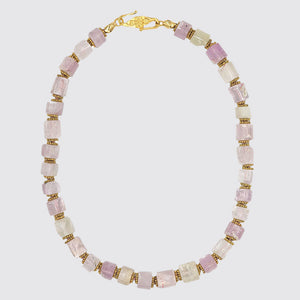 Pink Kunzite Knotted Necklace