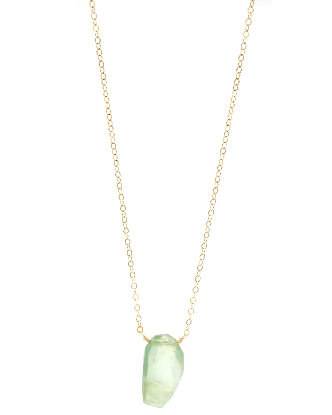 Prehnite Drop Necklace