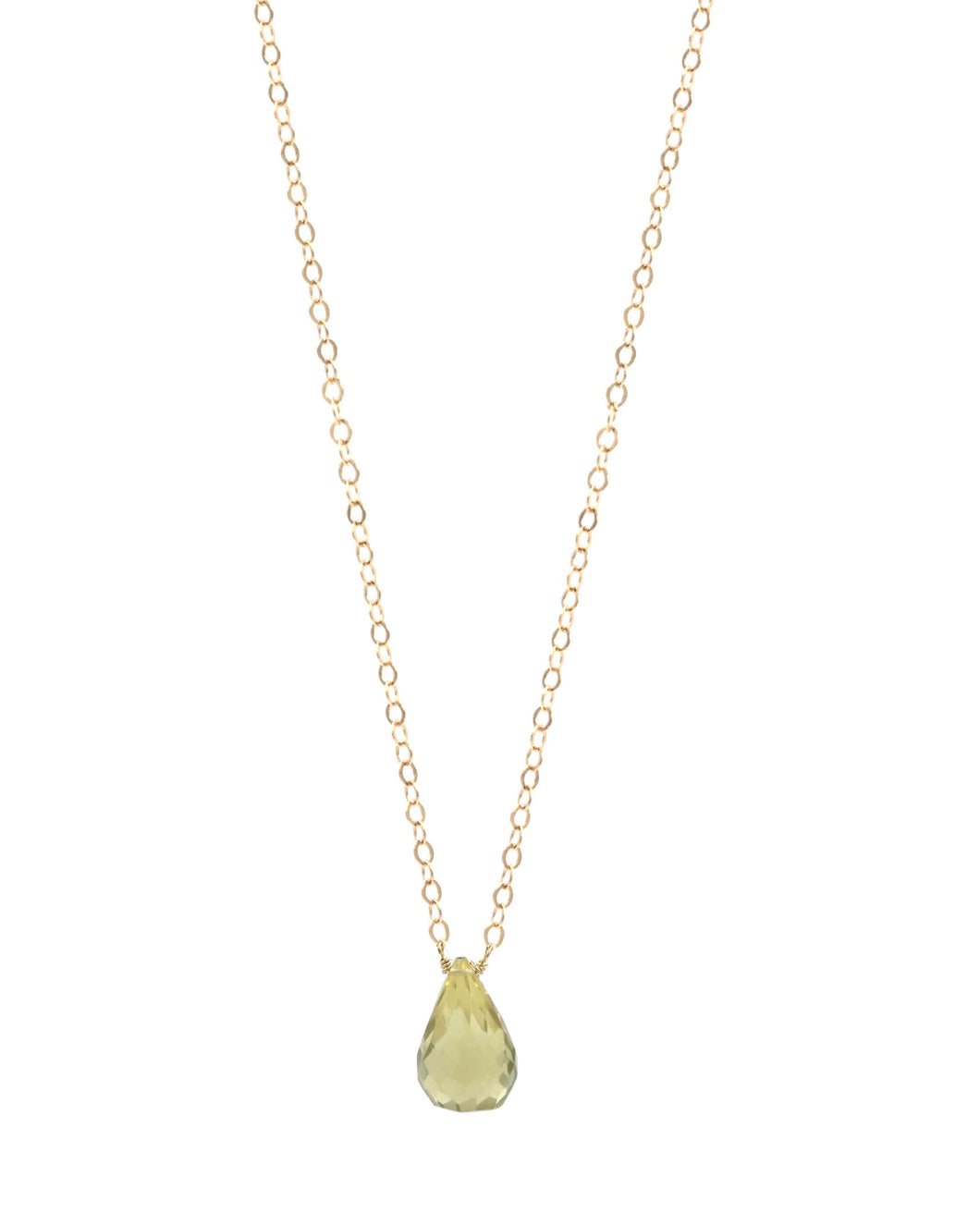 Lemon Citrine Drop Necklace